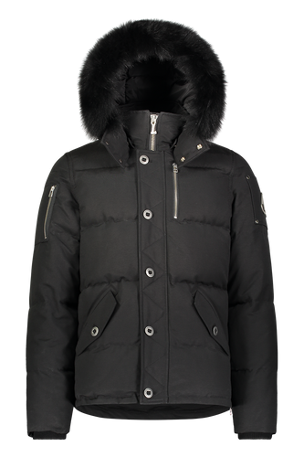 3Q Jacket - Black/Black Fox Fur