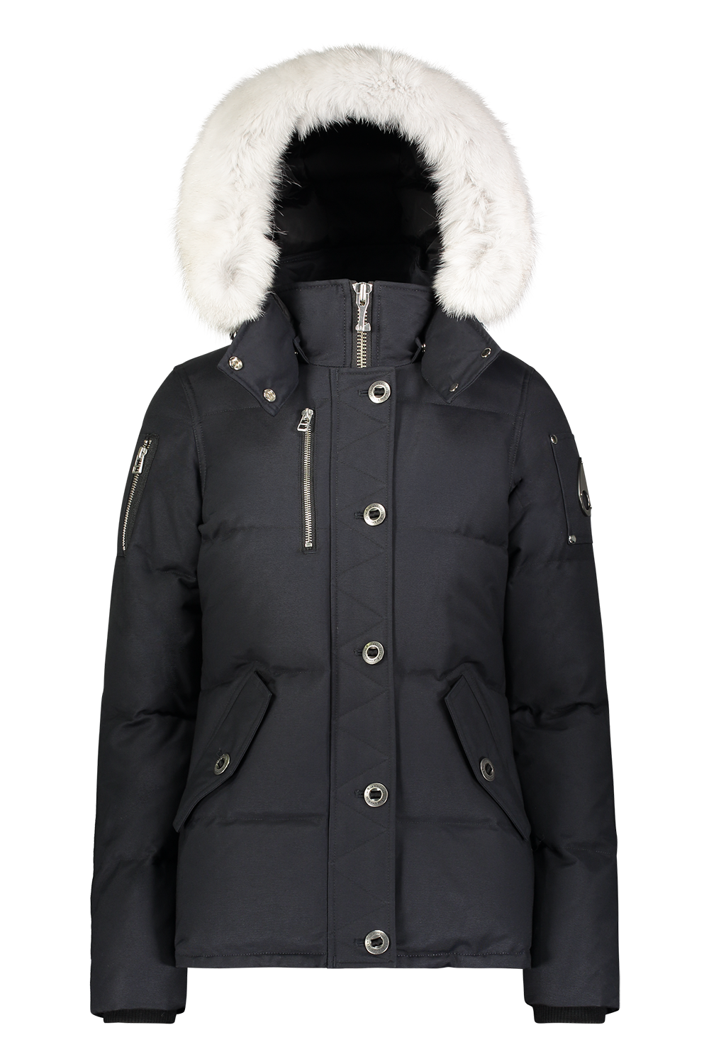 3Q Jacket - Navy/Natural Fox Fur