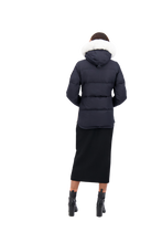 Load image into Gallery viewer, 3Q Jacket - Navy/Natural Fox Fur