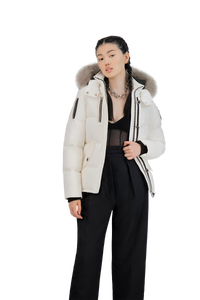 3Q Jacket - Milky/Stoned Fox Fur