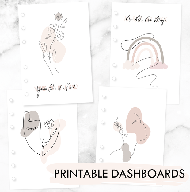 ABSTRACT PRINTABLE DASHBOARDS - SET OF 4 (DIGITAL DOWNLOAD) - 7 DIFFERENT SIZES AVAILABLE-The GP Studio