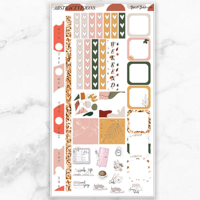 ABSTRACT VISIONS Hobonichi Weekly Size Planner Sticker Kit-The GP Studio
