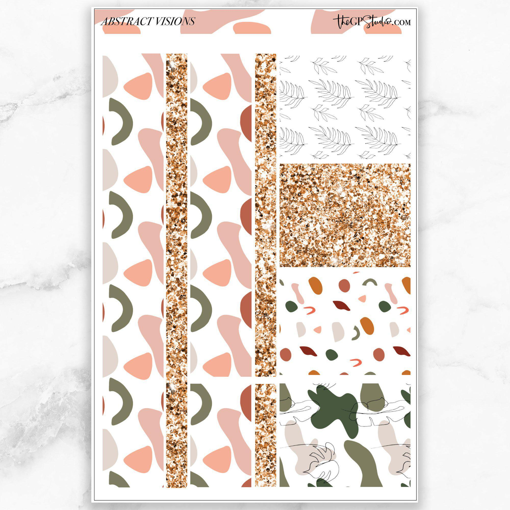 ABSTRACT VISIONS Washi Sheet Stickers-The GP Studio