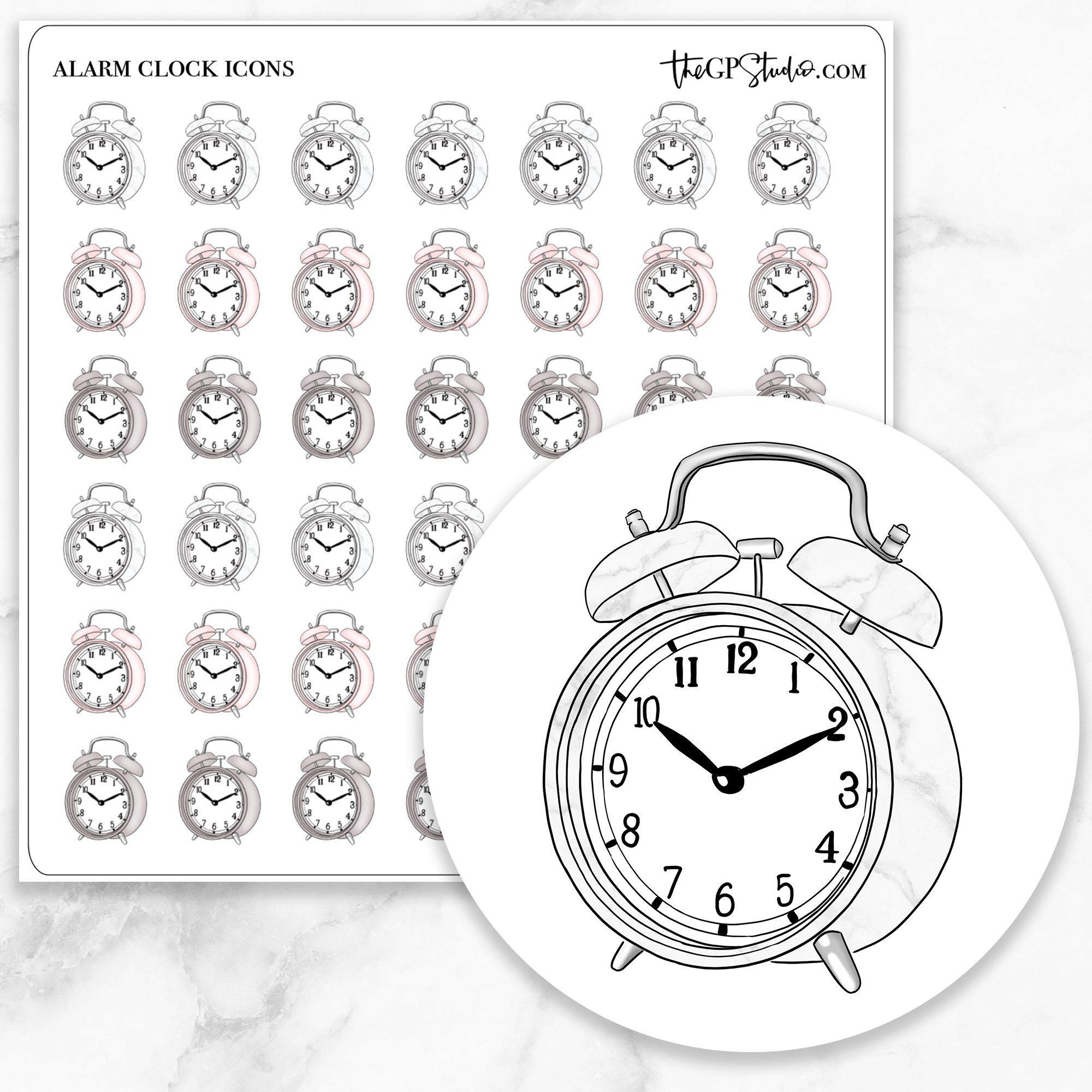 ALARM CLOCK Icon Planner Stickers-The GP Studio