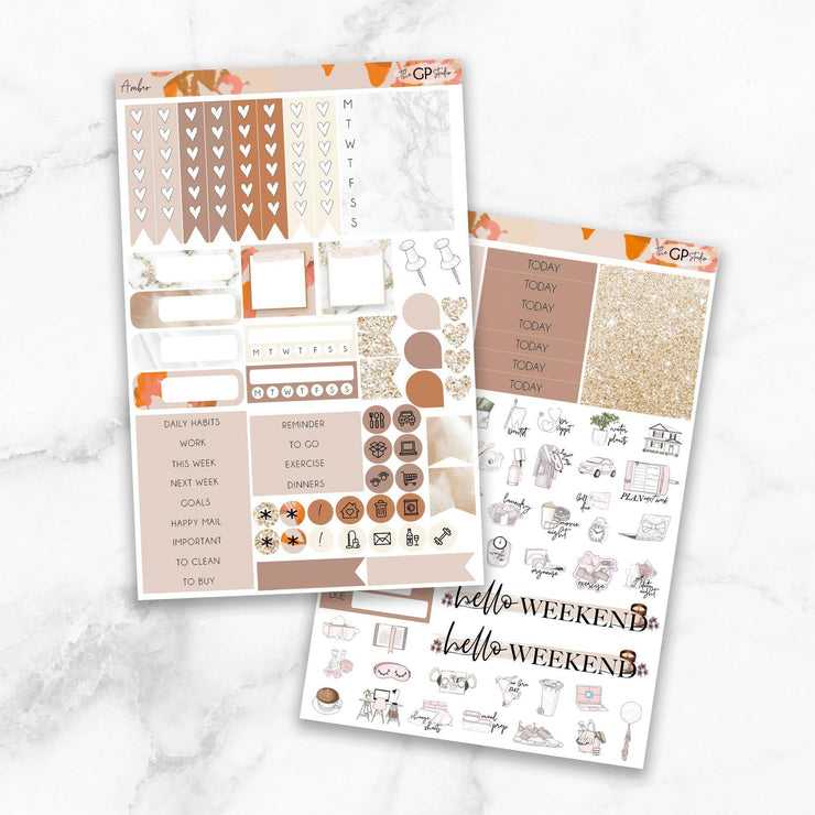 AMBER Planner Sticker Kit-The GP Studio