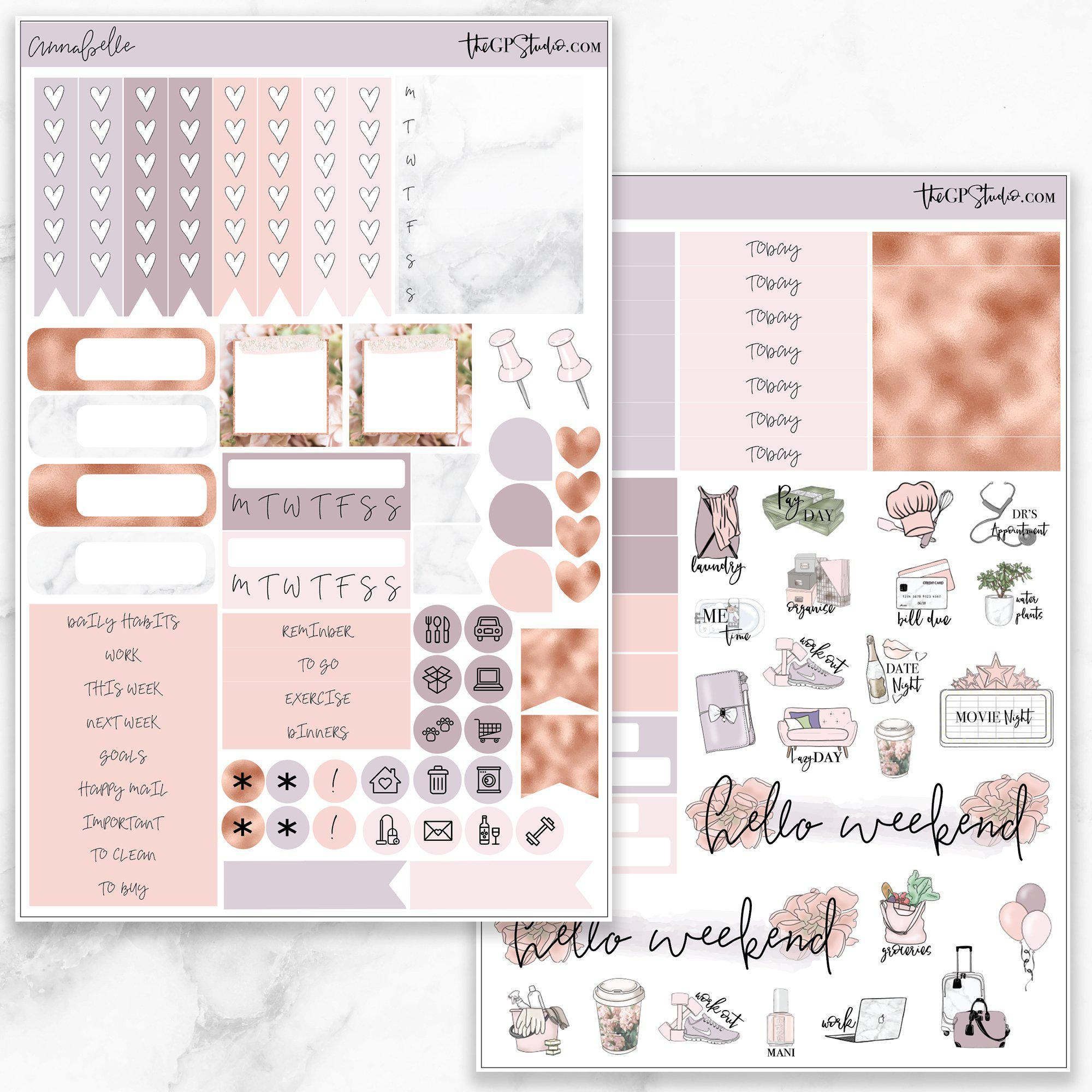 ANNABELLE Functional Planner Sticker Kit-The GP Studio