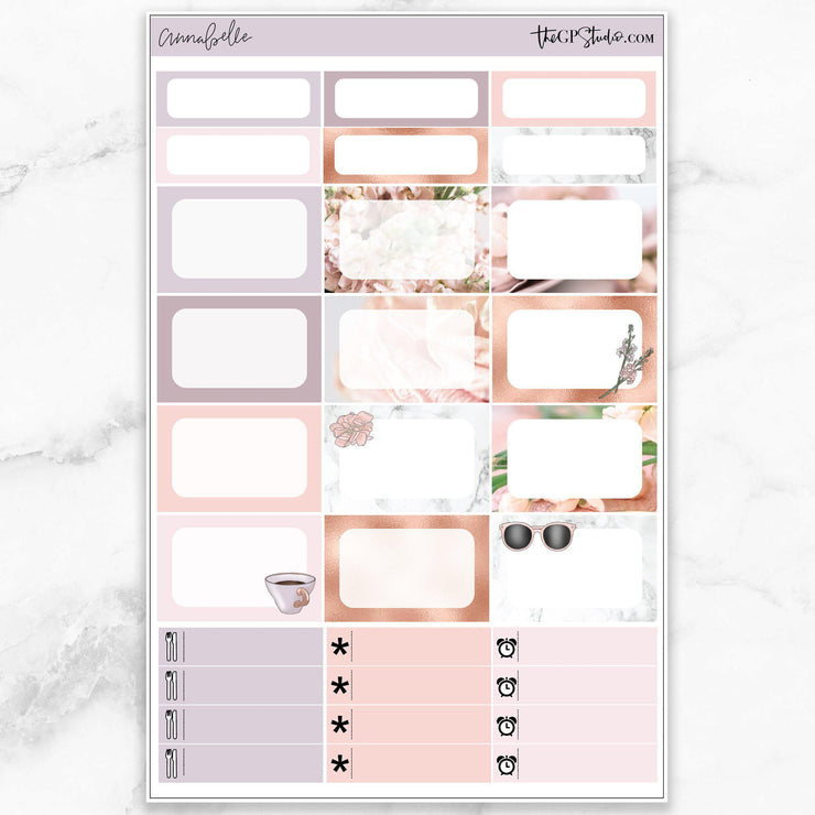 ANNABELLE Half Boxes Planner Stickers-The GP Studio