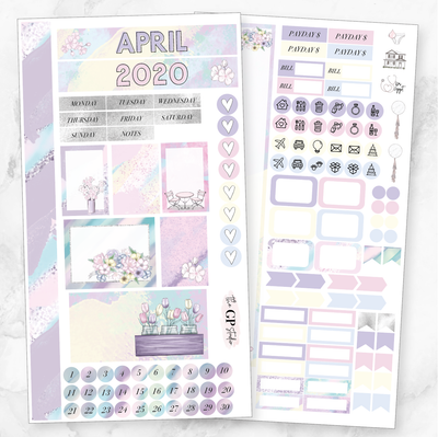 APRIL 2020 MONTHLY VIEW Personal/TN Size Stickers-The GP Studio