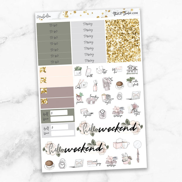 ARABELLA Functional Planner Sticker Kit-The GP Studio