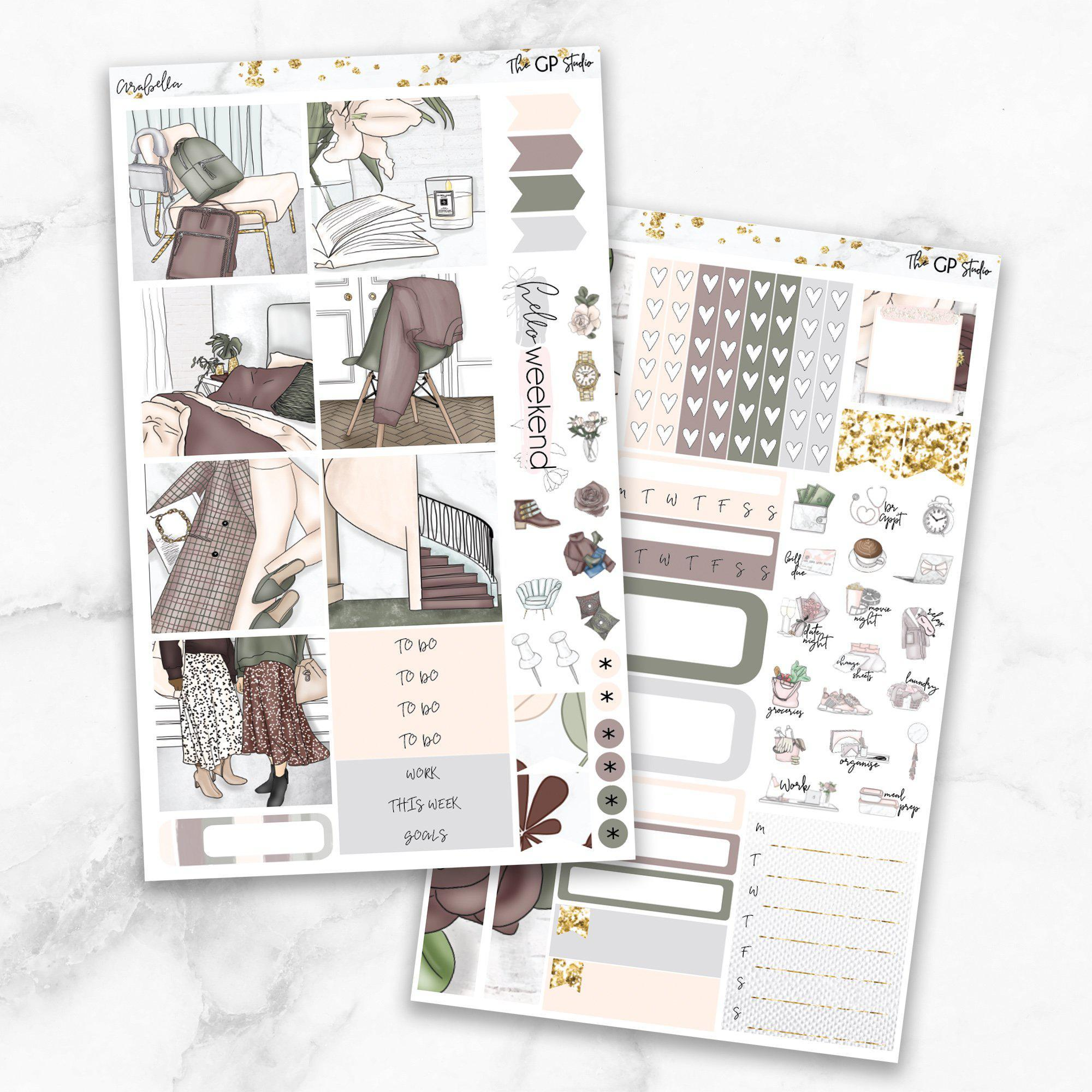 ARABELLA Mini Size Planner Sticker Kit-The GP Studio