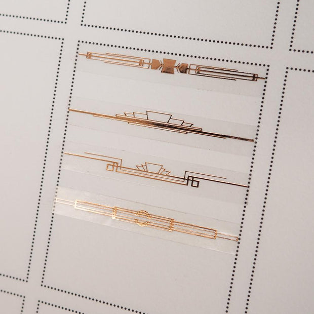Art Deco Clear Foil Overlay Headers-The GP Studio