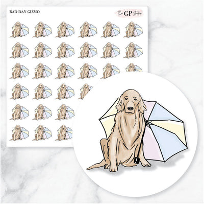 BAD DAY GIZMO Planner Stickers-The GP Studio