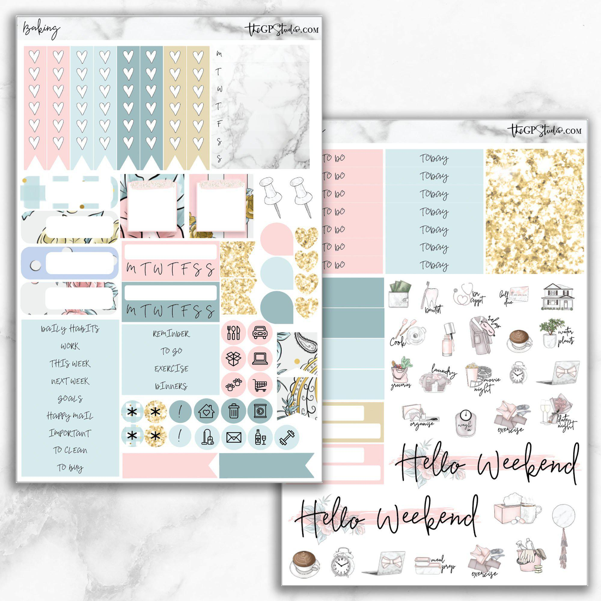 BAKING Functional Planner Sticker Kit-The GP Studio