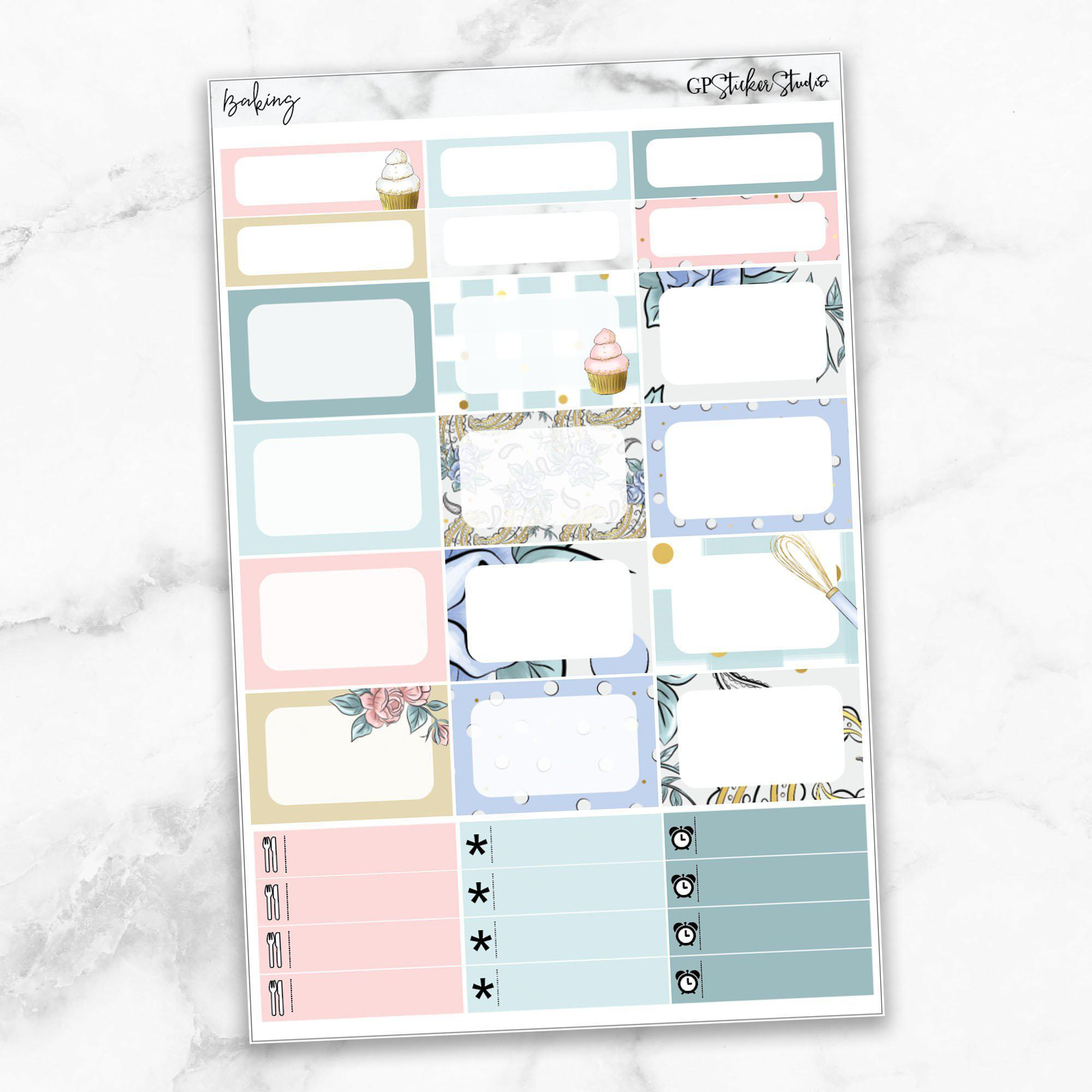 BAKING Half Boxes Planner Stickers-The GP Studio