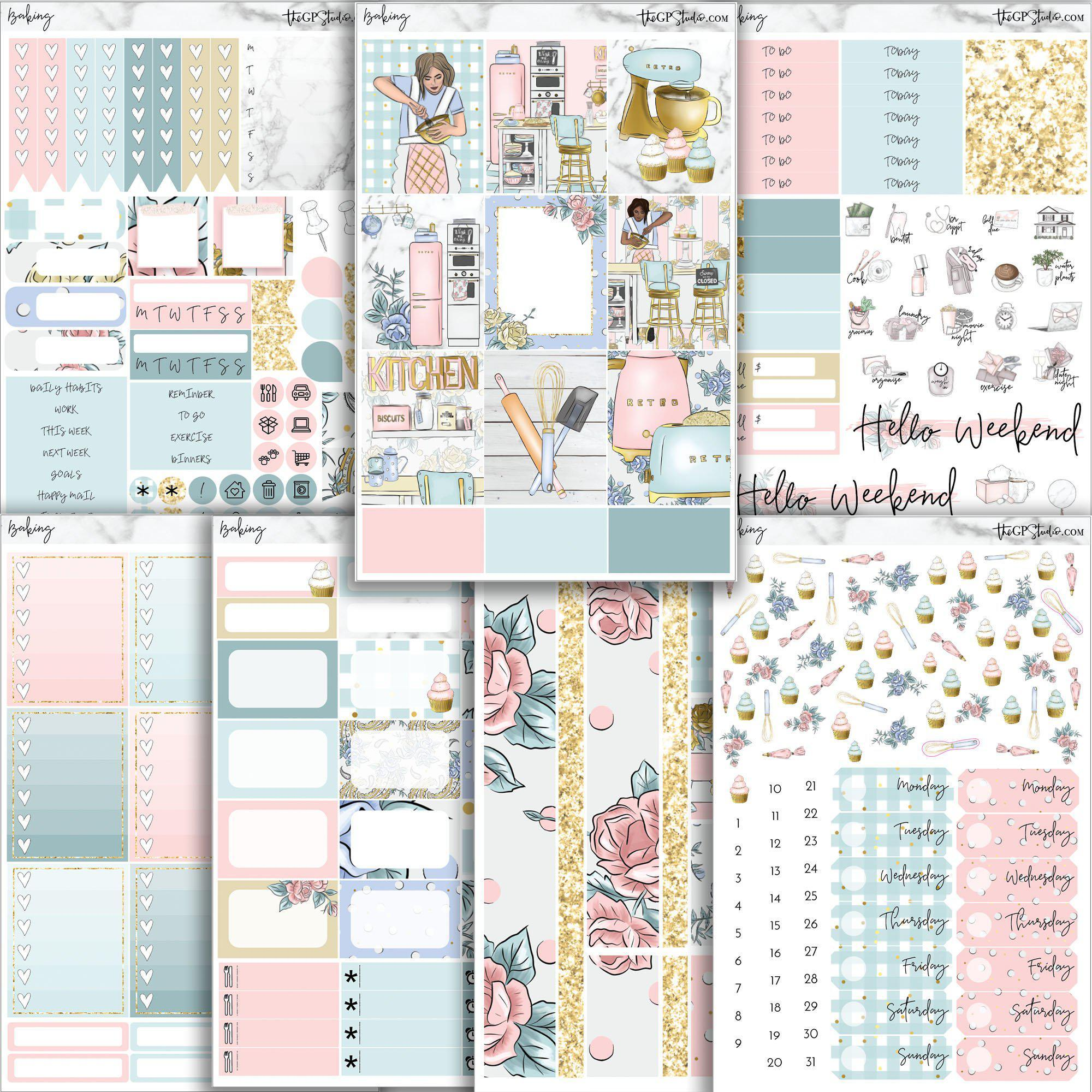 BAKING Planner Sticker Kit-The GP Studio
