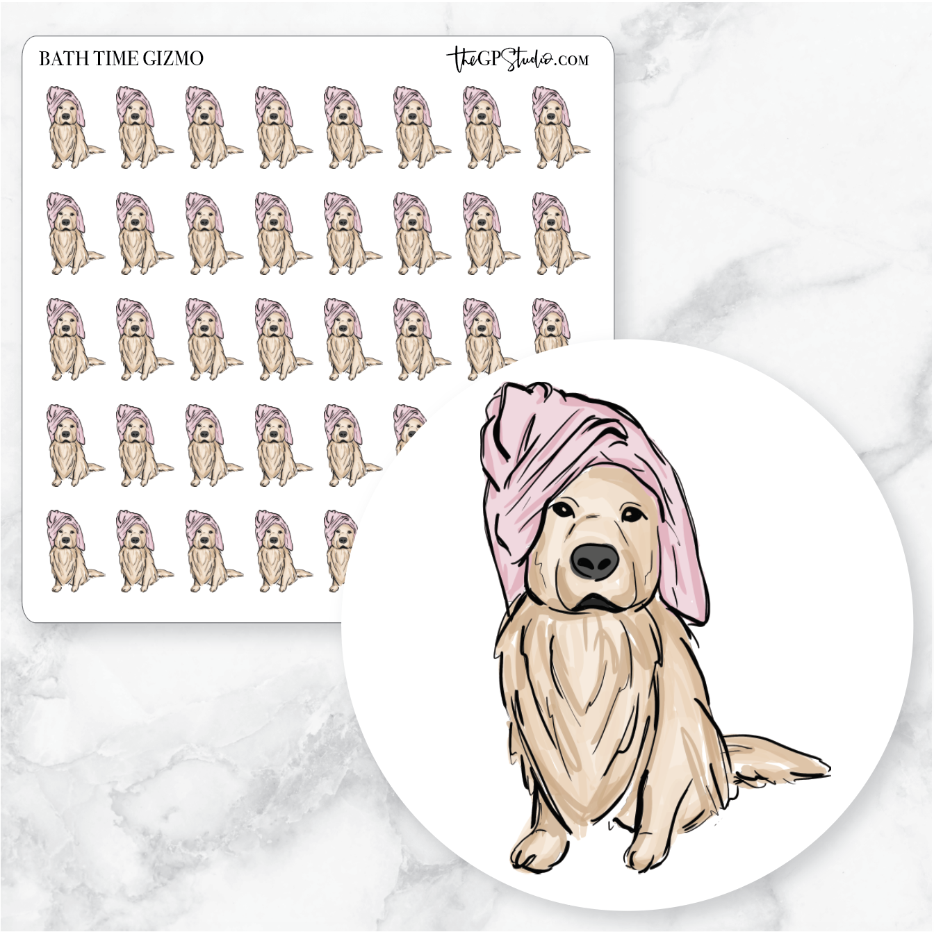 BATH TIME GIZMO Planner Stickers-The GP Studio