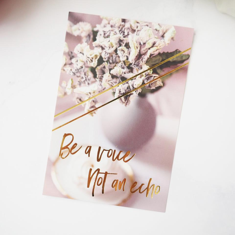 BE A VOICE JOURNAL CARD-The GP Studio