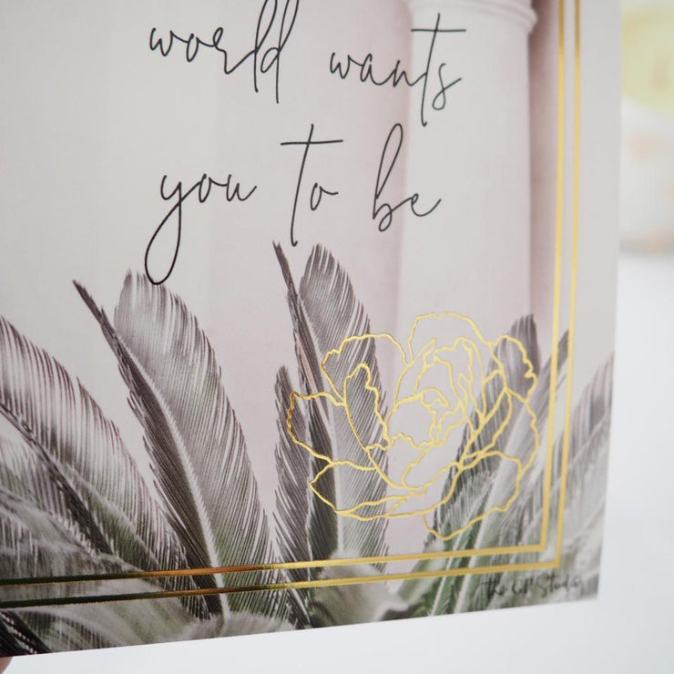 BE WHO YOU ARE JOURNAL CARD-The GP Studio
