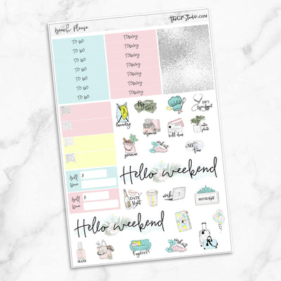 BEACH PLEASE Functional Planner Sticker Kit-The GP Studio
