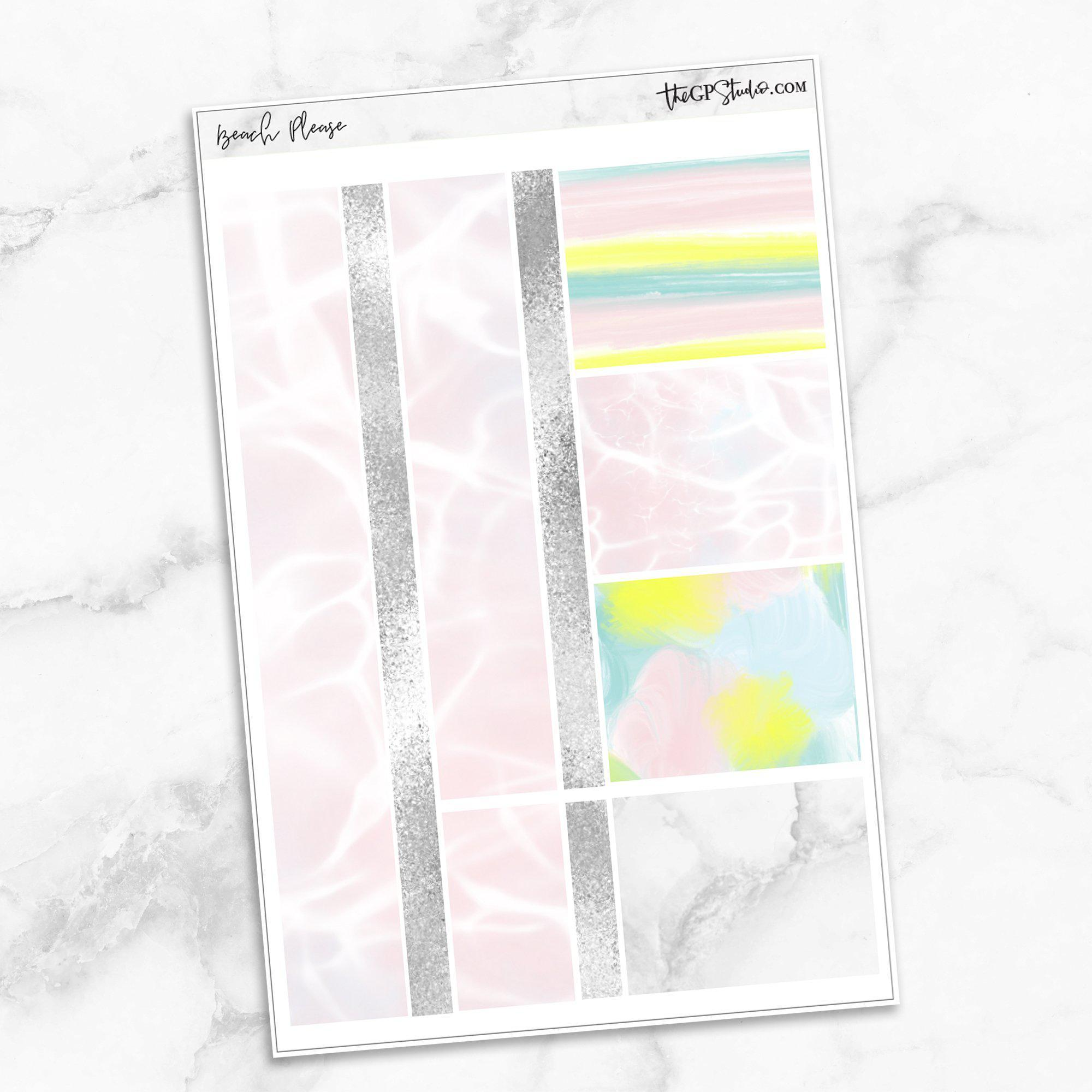 BEACH PLEASE Washi Sheet Stickers-The GP Studio