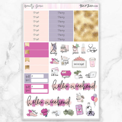 BEAUTY GURU Functional Planner Sticker Kit-The GP Studio