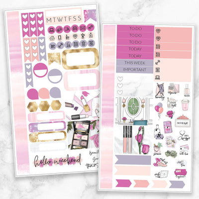 BEAUTY GURU Personal Size Planner Sticker Kit-The GP Studio