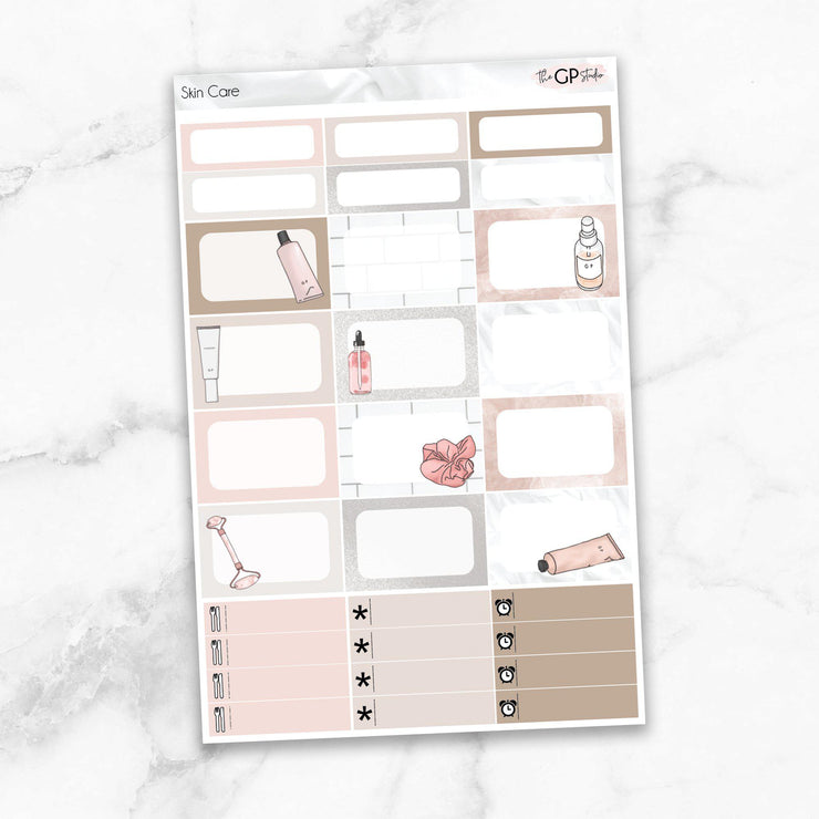 BEAUTY QUEEN Half Boxes Planner Stickers-The GP Studio