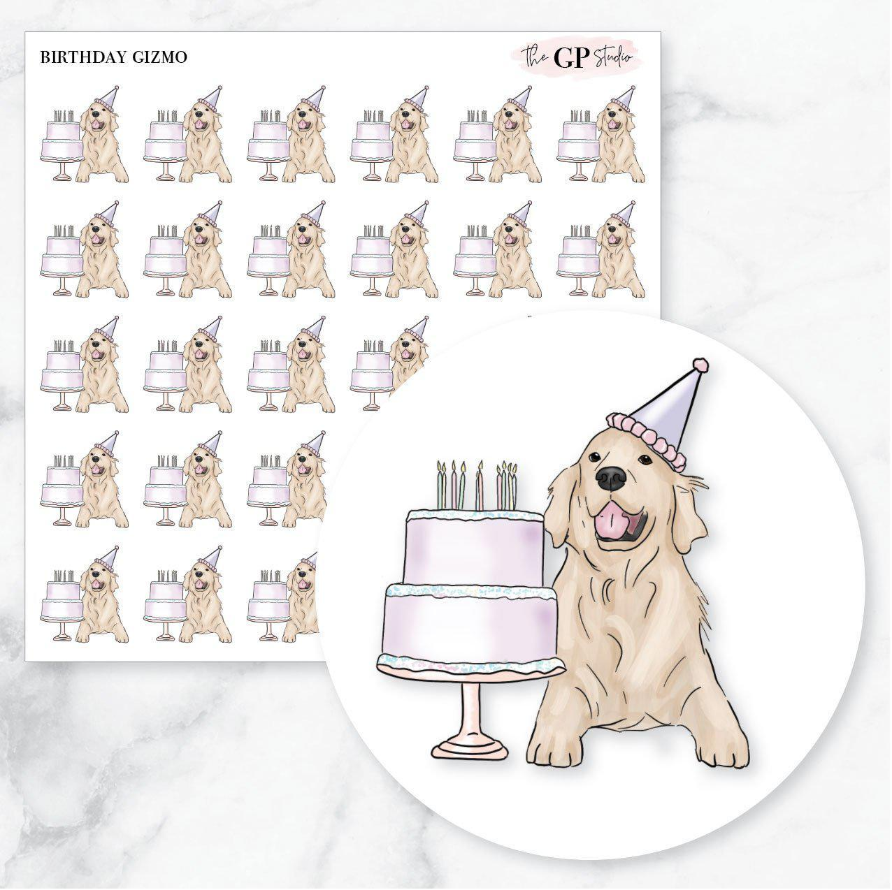 BIRTHDAY GIZMO Planner Stickers-The GP Studio