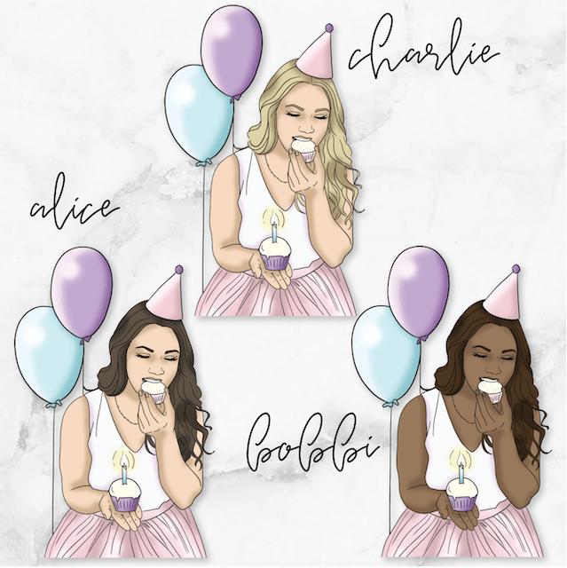 BIRTHDAY/CELEBRATE GP Girl Planner Stickers-The GP Studio