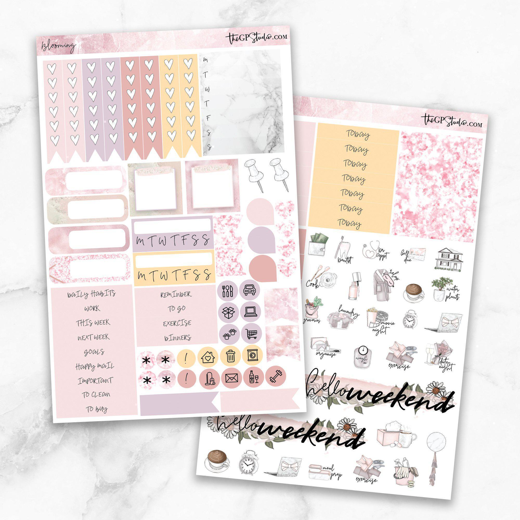BLOOMING Functional Planner Sticker Kit-The GP Studio