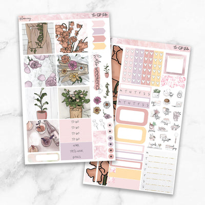 BLOOMING Mini Size Planner Sticker Kit-The GP Studio