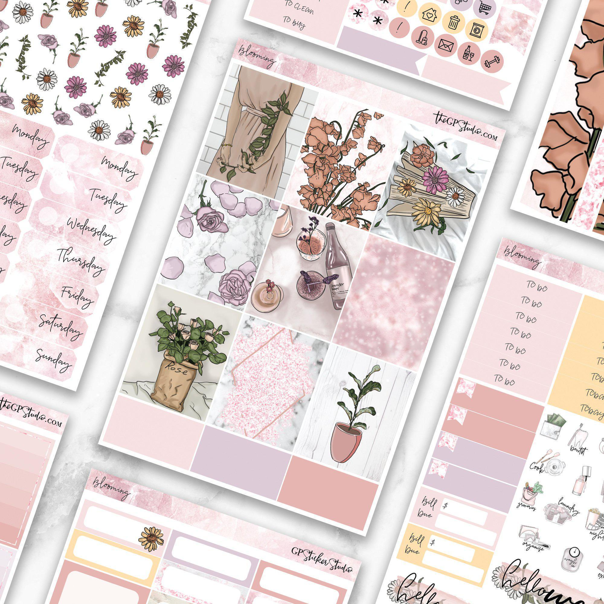 BLOOMING Planner Sticker Kit-The GP Studio