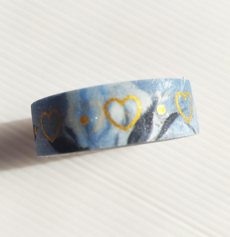 BLUE AND GOLD WASHI TAPE-The GP Studio