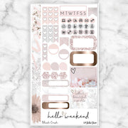 BLUSH CRUSH Personal Size Planner Sticker Kit-The GP Studio