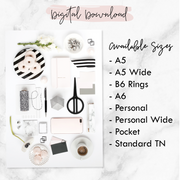 BLUSH MONOCHROME PRINTABLE DASHBOARDS - SET OF 4 (DIGITAL DOWNLOAD)-The GP Studio