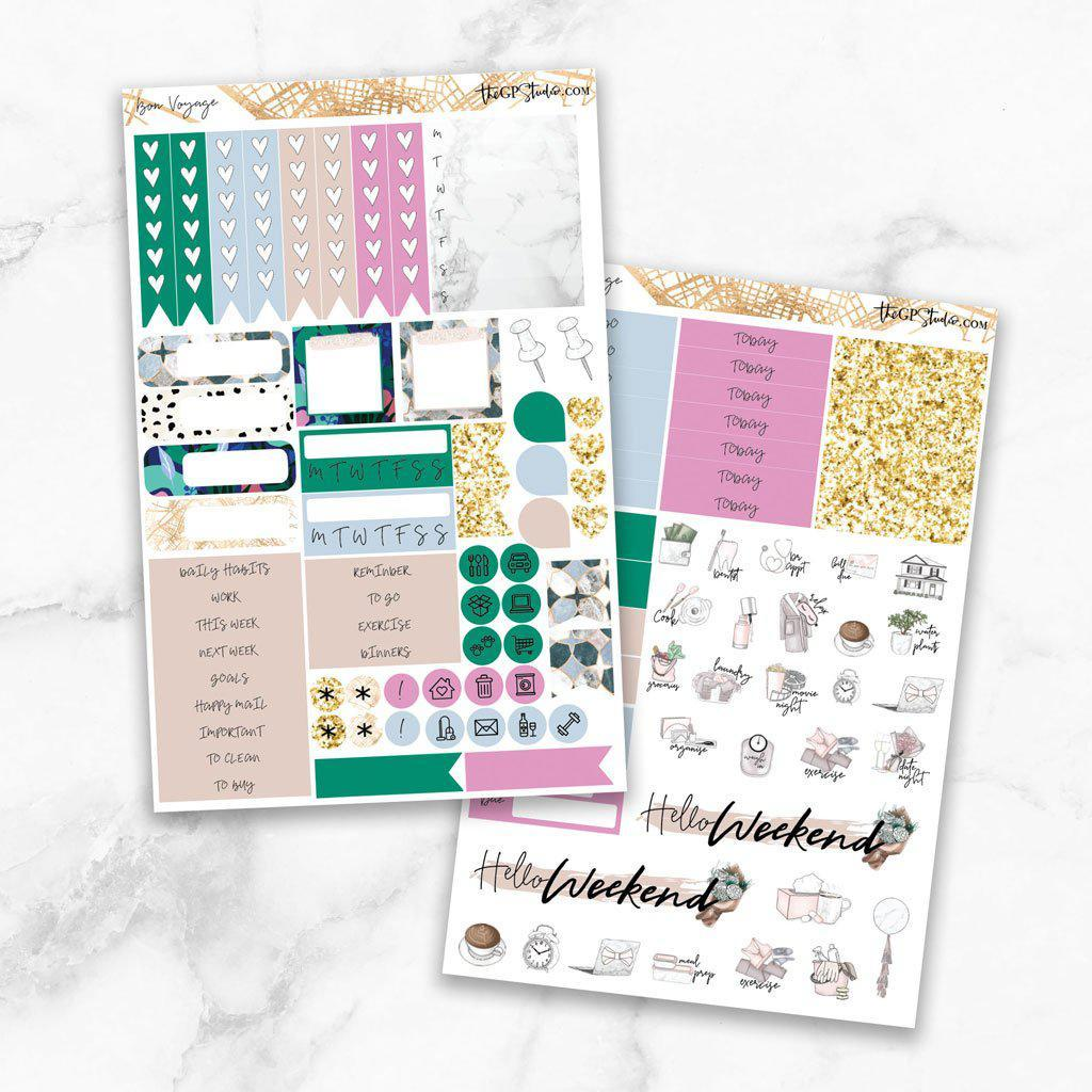 BON VOYAGE Functional Planner Sticker Kit-The GP Studio