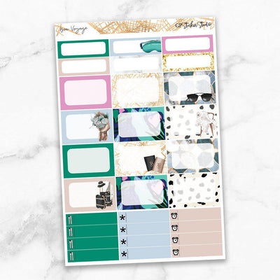 BON VOYAGE Half Boxes Planner Stickers-The GP Studio
