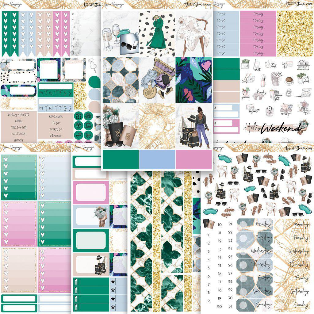 BON VOYAGE Planner Sticker Kit-The GP Studio