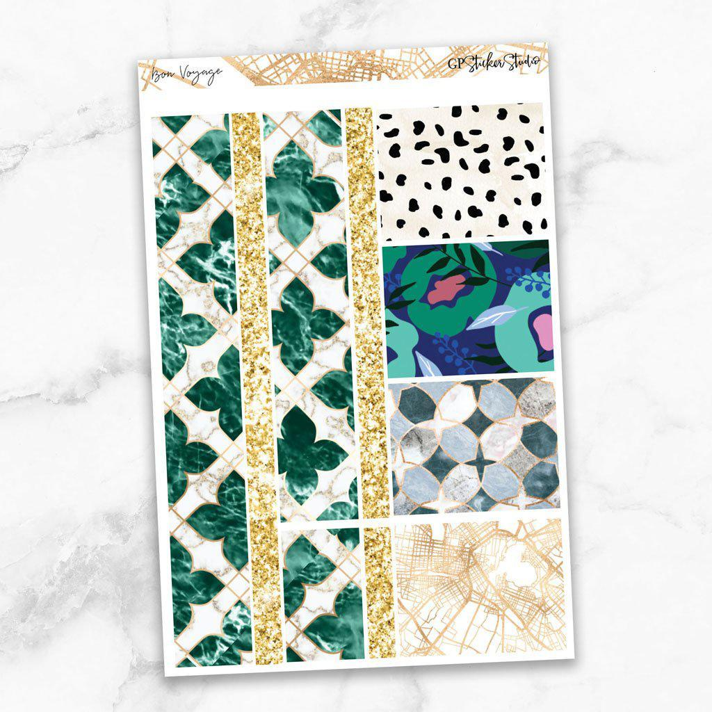 BON VOYAGE Washi Sheet Stickers-The GP Studio