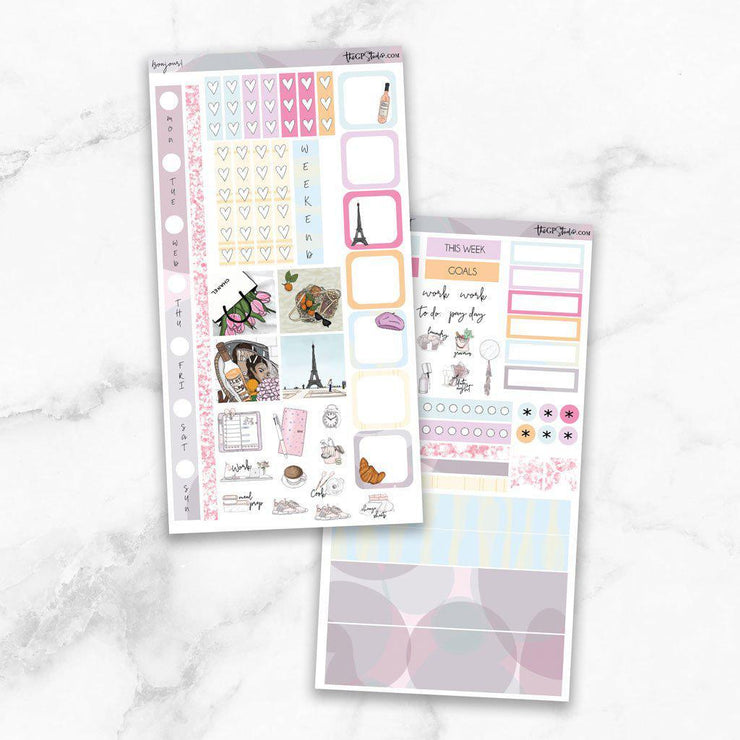 BONJOUR Hobonichi Weekly Size Planner Sticker Kit-The GP Studio