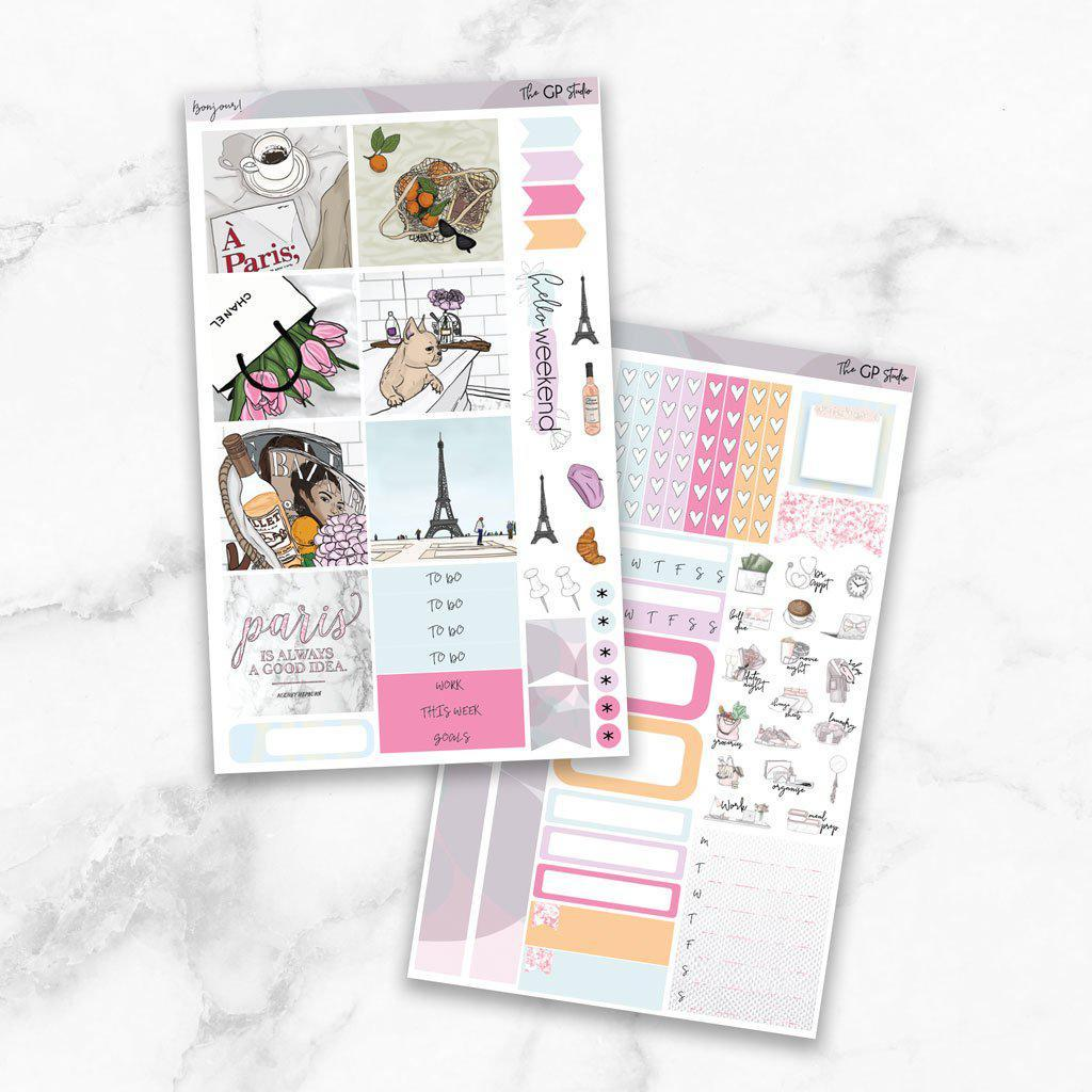 BONJOUR Mini Size Planner Sticker Kit-The GP Studio