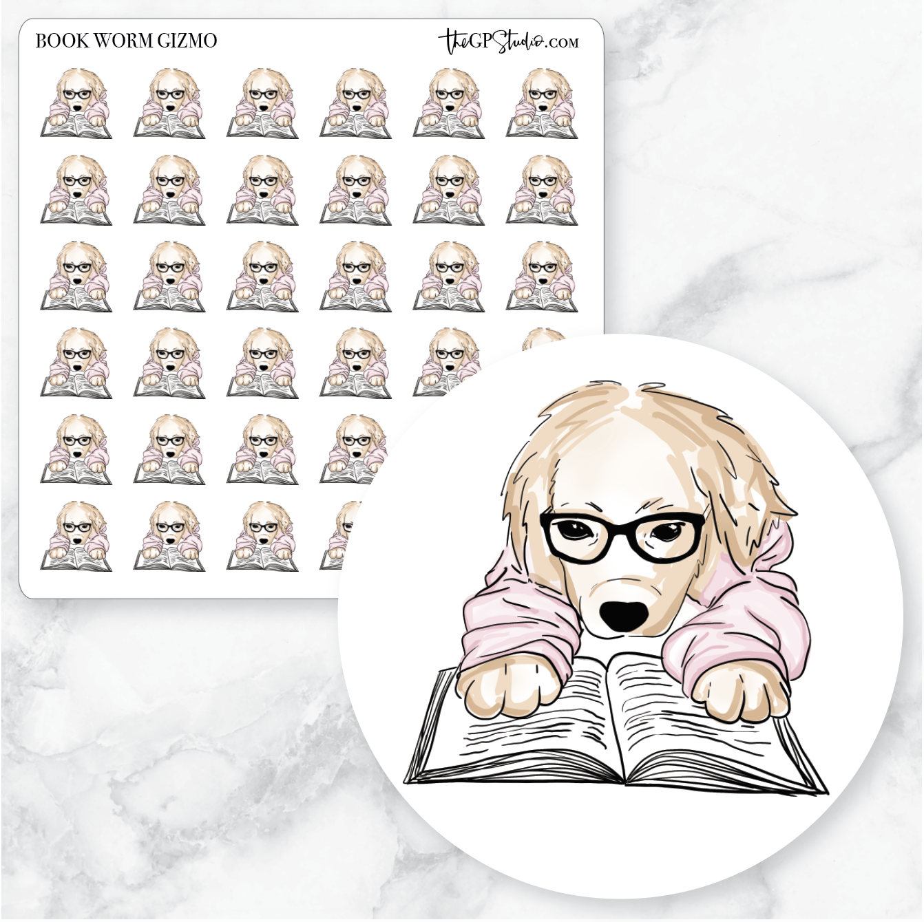 BOOK WORM GIZMO Planner Stickers-The GP Studio