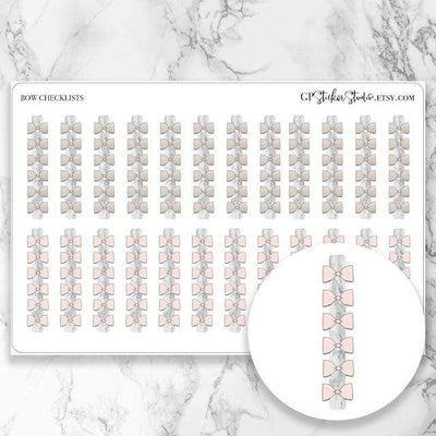 BOW CHECKLISTS Icon Planner Stickers-The GP Studio
