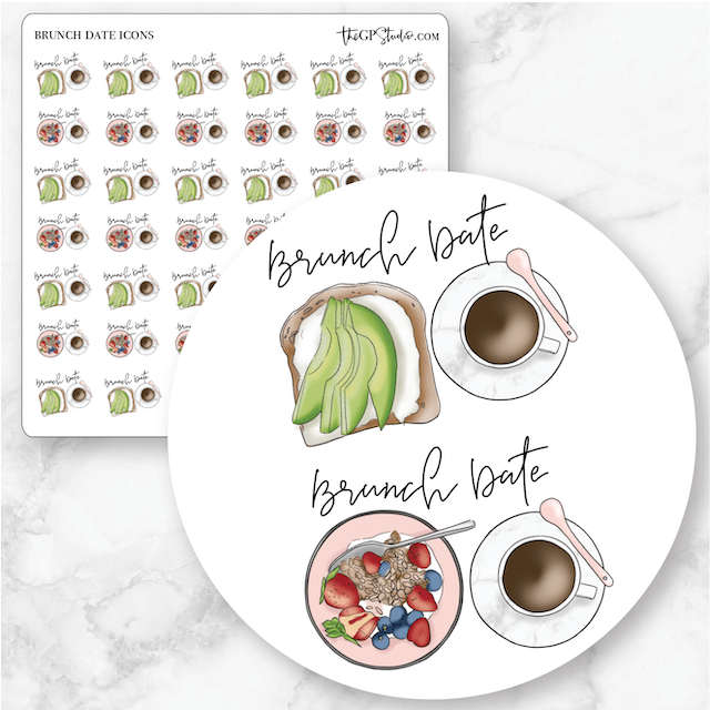 BRUNCH DATES Icon Planner Stickers-The GP Studio