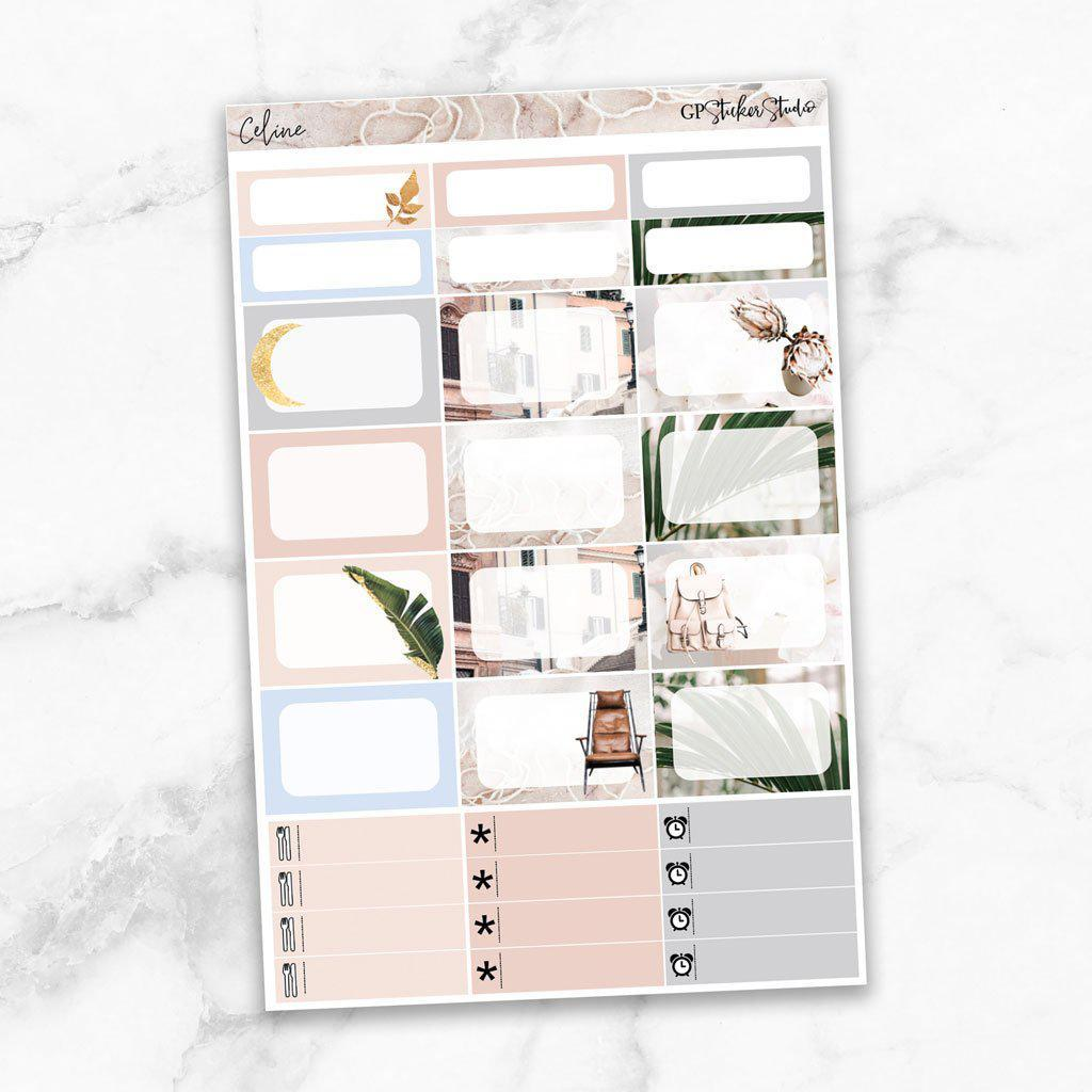 CELINE Half Boxes Planner Stickers-The GP Studio