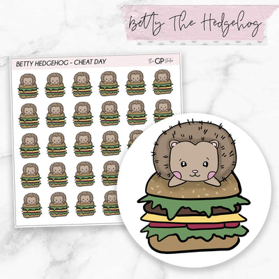 CHEAT DAY BETTY Planner Stickers-The GP Studio