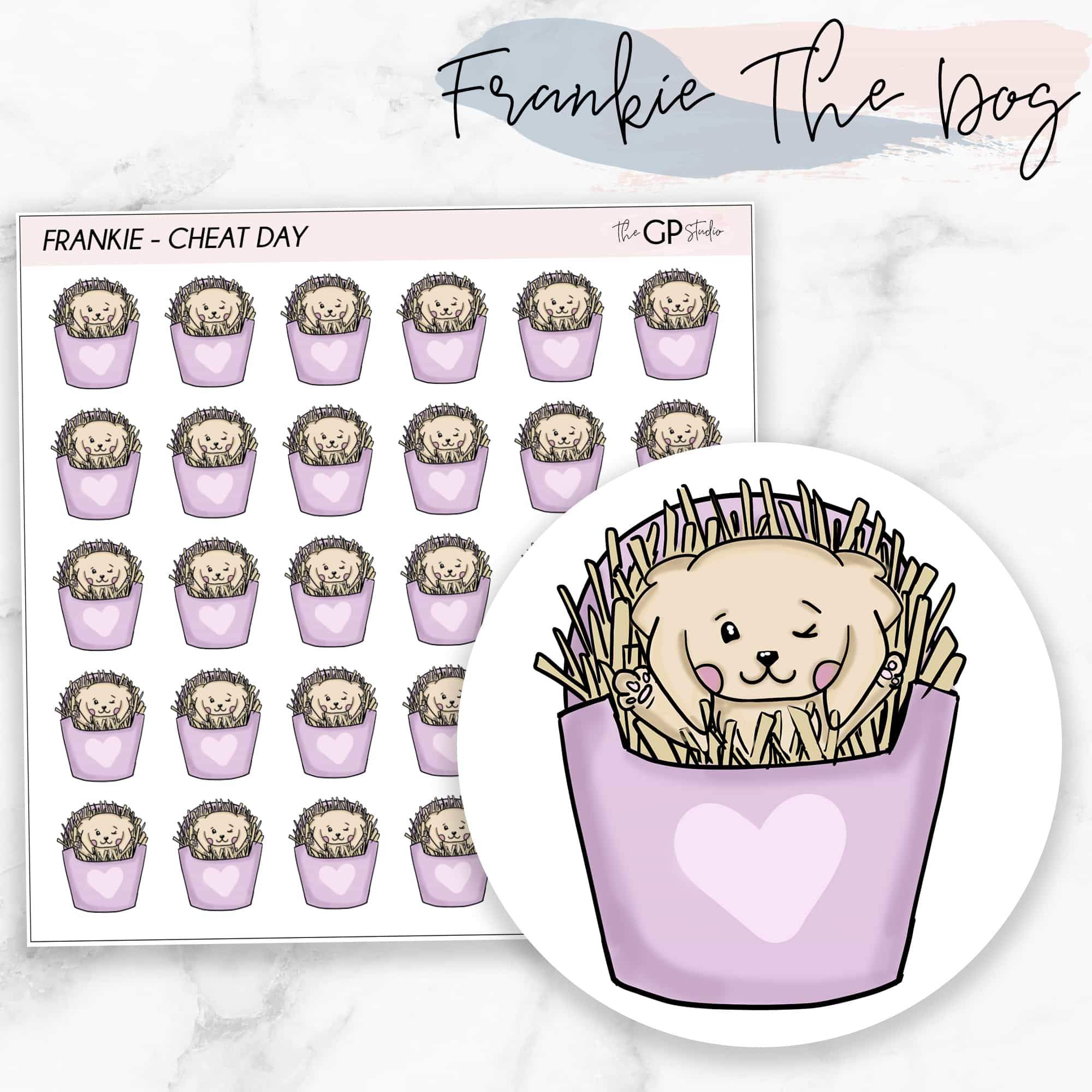 CHEAT DAY FRANKIE Planner Stickers-The GP Studio