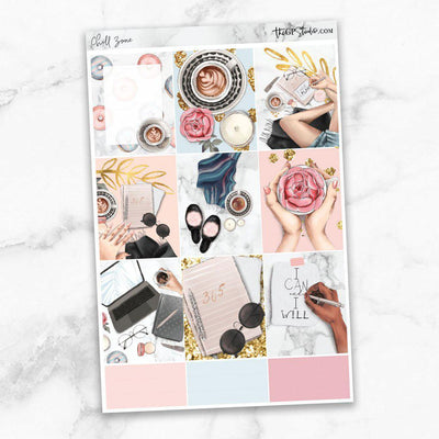 CHILL ZONE Full Boxes Planner Stickers-The GP Studio