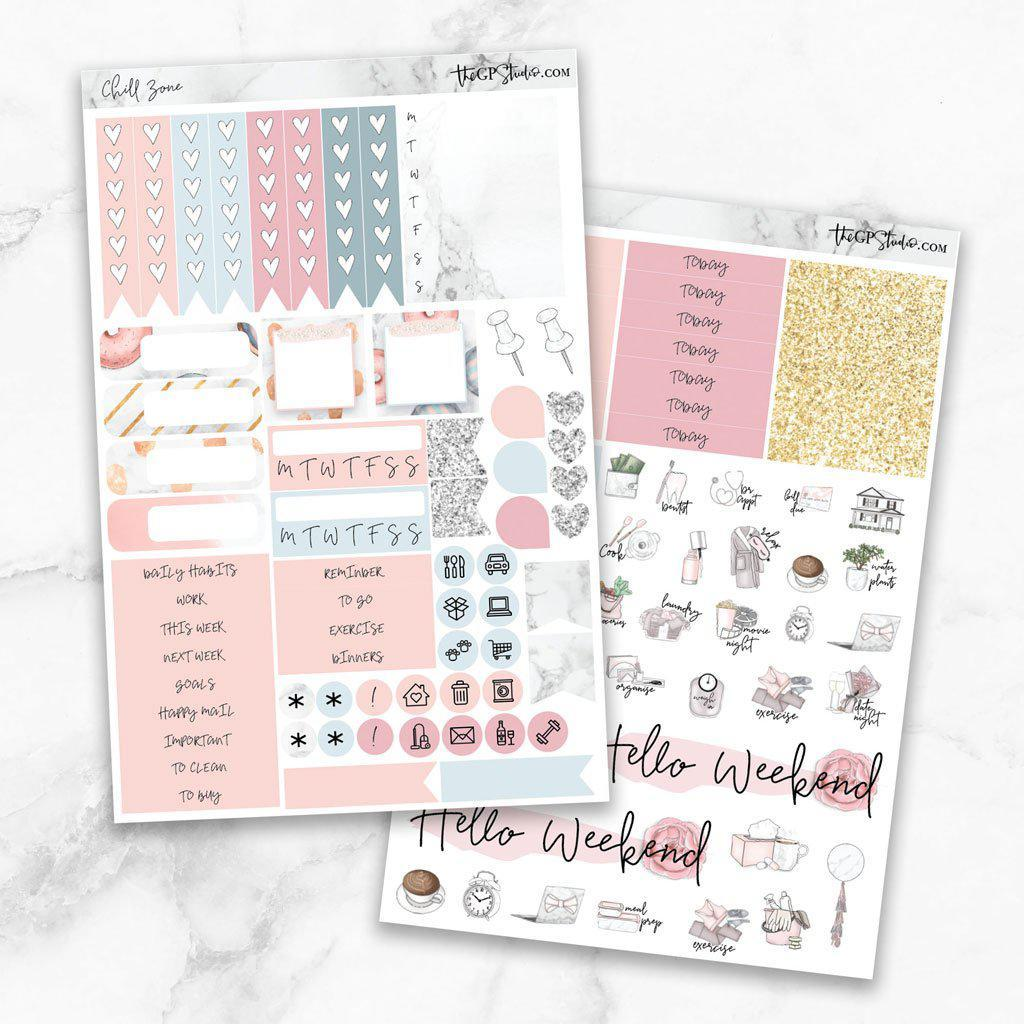 CHILL ZONE Functional Planner Sticker Kit-The GP Studio