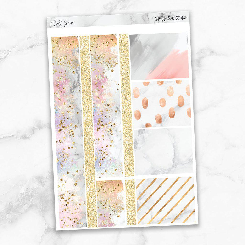 CHILL ZONE Washi Sheet Stickers-The GP Studio